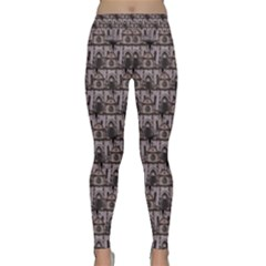 Gothic Church Pattern Classic Yoga Leggings