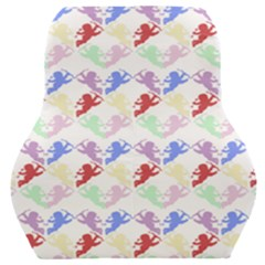Colorful Cherubs White Car Seat Back Cushion