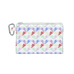Colorful Cherubs White Canvas Cosmetic Bag (small) by snowwhitegirl