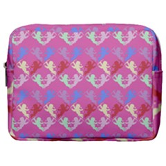 Colorful Cherubs Pink Make Up Pouch (large) by snowwhitegirl