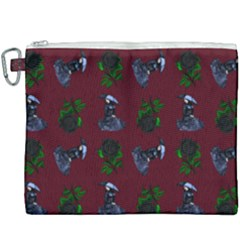 Gothic Girl Rose Red Pattern Canvas Cosmetic Bag (xxxl) by snowwhitegirl