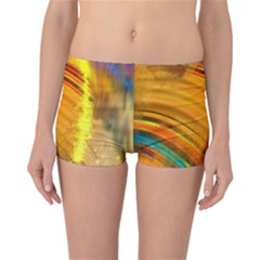Orange Pink Sketchy Abstract Arch Reversible Boyleg Bikini Bottoms