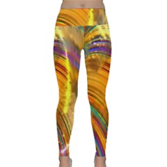 Orange Pink Sketchy Abstract Arch Lightweight Velour Classic Yoga Leggings