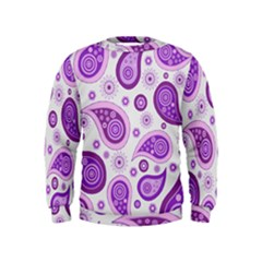 Retro Paisley Purple Kids  Sweatshirt