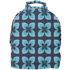 Retro Flower Blue Mini Full Print Backpack