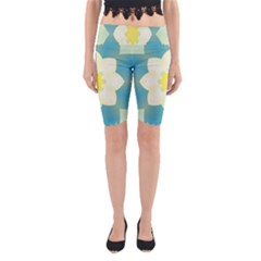 Pattern Flower Abstract Pastel Yoga Cropped Leggings by Simbadda
