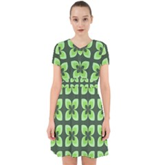Retro Flower Green Adorable In Chiffon Dress