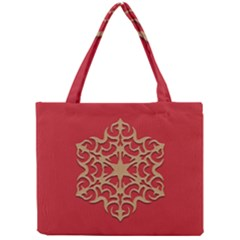 Ornament Flower Pattern Jewelry Mini Tote Bag by Simbadda