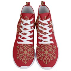 Ornament Flower Pattern Jewelry Men s Lightweight High Top Sneakers
