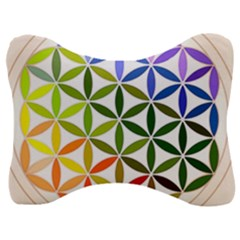 Mandala Rainbow Colorful Reiki Velour Seat Head Rest Cushion