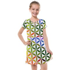 Mandala Rainbow Colorful Reiki Kids  Cross Web Dress