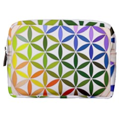 Mandala Rainbow Colorful Reiki Make Up Pouch (medium) by Simbadda
