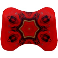 Chakra Art Heart Healing Red Head Support Cushion by Simbadda