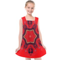 Chakra Art Heart Healing Red Kids  Cross Back Dress