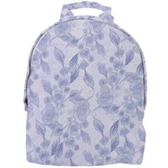 Blue Floral Mini Full Print Backpack by snowwhitegirl
