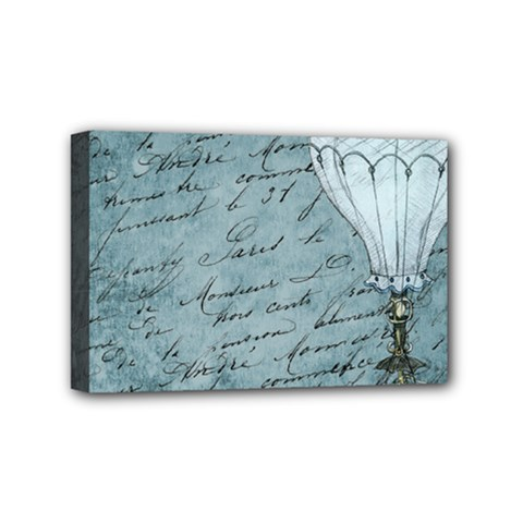 Vintage Hot Air Balloon Lettter Mini Canvas 6  X 4  (stretched) by snowwhitegirl