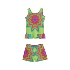 Abstract Art Abstract Background Pattern Kid s Boyleg Swimsuit