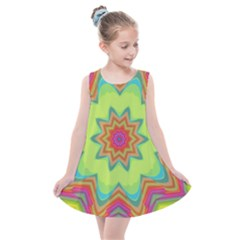 Abstract Art Abstract Background Pattern Kids  Summer Dress