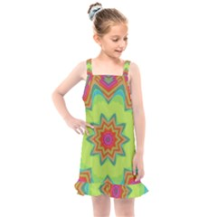 Abstract Art Abstract Background Pattern Kids  Overall Dress