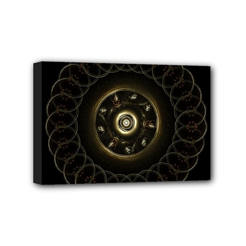 Fractal Gold Mandala Fractal Art Mini Canvas 6  X 4  (stretched)