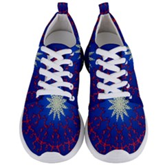 Mandala Abstract Fractal Patriotic Men s Lightweight Sports Shoes