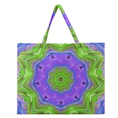 Abstract Art Colorful Zipper Large Tote Bag by Simbadda