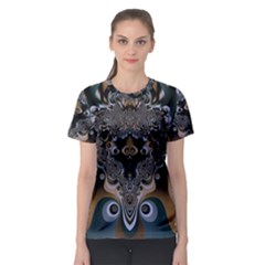Art Pattern Fractal Art Artwork Design Women s Sport Mesh Tee by Simbadda