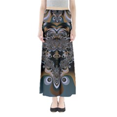 Art Pattern Fractal Art Artwork Design Full Length Maxi Skirt