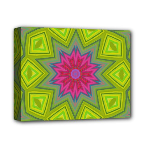 Green Pink Abstract Art Abstract Background Deluxe Canvas 14  X 11  (stretched) by Simbadda