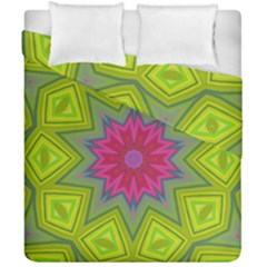 Green Pink Abstract Art Abstract Background Duvet Cover Double Side (california King Size)