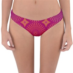 Flower Wheel Chakra Mandala Modern Reversible Hipster Bikini Bottoms
