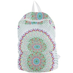 Flower Abstract Floral Foldable Lightweight Backpack