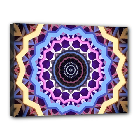 Mandala Art Design Pattern Canvas 16  X 12  (stretched)