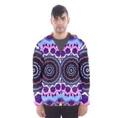 Mandala Art Design Pattern Hooded Windbreaker (men)