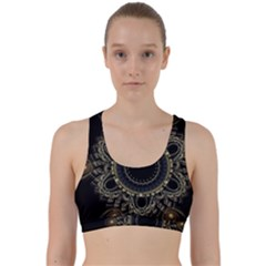 Fractal Mandala Intricate Back Weave Sports Bra by Simbadda