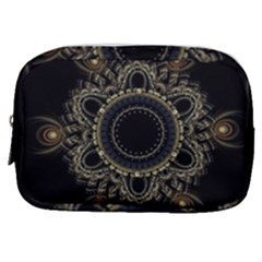 Fractal Mandala Intricate Make Up Pouch (small) by Simbadda