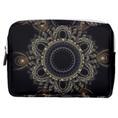 Fractal Mandala Intricate Make Up Pouch (medium) by Simbadda