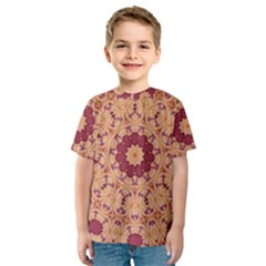 Abstract Art Abstract Background Pattern Kids  Sport Mesh Tee