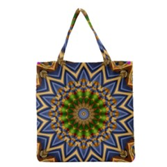 Abstract Antique Art Background Pattern Grocery Tote Bag