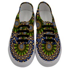 Abstract Antique Art Background Pattern Men s Classic Low Top Sneakers