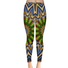 Abstract Antique Art Background Pattern Inside Out Leggings