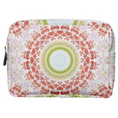 Fractal Kaleidoscope Mandala Make Up Pouch (medium) by Simbadda