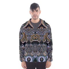 Fractal Art Artwork Design Hooded Windbreaker (men)