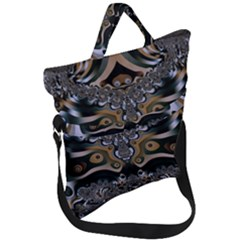 Fractal Art Artwork Design Fold Over Handle Tote Bag
