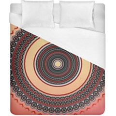 Ornamental Shape Concentric Round Duvet Cover (california King Size)