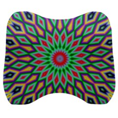 3d Abstract Art Abstract Background Velour Head Support Cushion by Simbadda