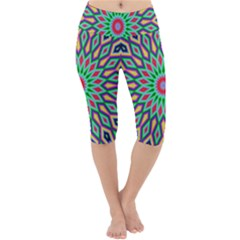 3d Abstract Art Abstract Background Lightweight Velour Cropped Yoga Leggings