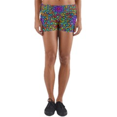 Points Mandala Kaleidoscope Yoga Shorts