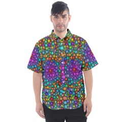 Points Mandala Kaleidoscope Men s Short Sleeve Shirt