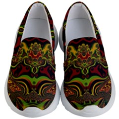 Fractal Art Artwork Design Kid s Lightweight Slip Ons